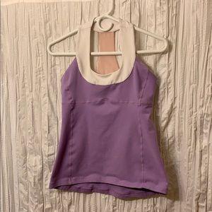 Lululemon size 8 purple scoop neck tank